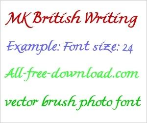 British-style handwriting font