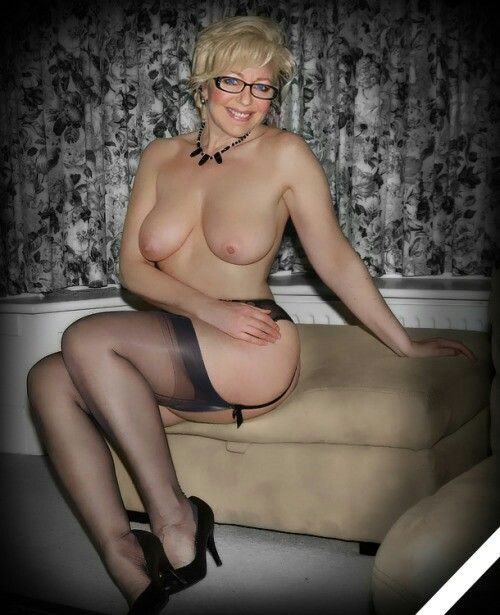 Still naked old milfs in nylons could