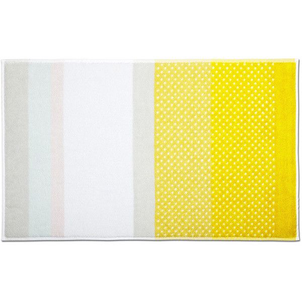 HAY Bath Mat   Autumn Yellow ($27) ❤ Liked On Polyvore Featuring Home, Bed  U0026 Bath, Bath, Bath Rugs, Grey, Yellow Bathroom Rugs, Grey Bathroom Rugs, ...
