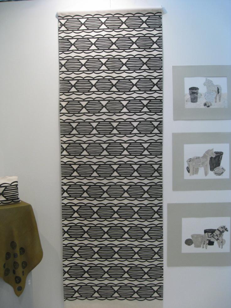 "Handprinted pattern.  Pattern called ""Telefonklotter"" (""Telephone-doodles"")"