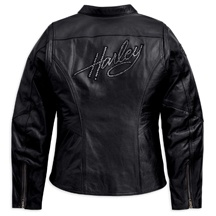 Love my new jacket!! - Women's Embellished Harley Leather Jacket