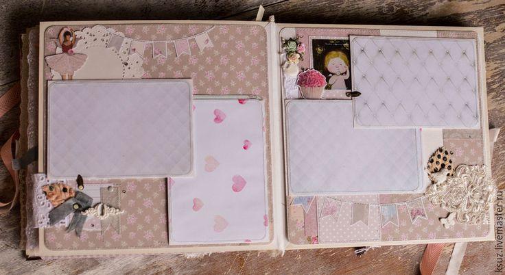 Купить Зефирный альбом для Миланы - бледно-розовый, ксюша зайцева, Скрапбукинг, альбом для фото