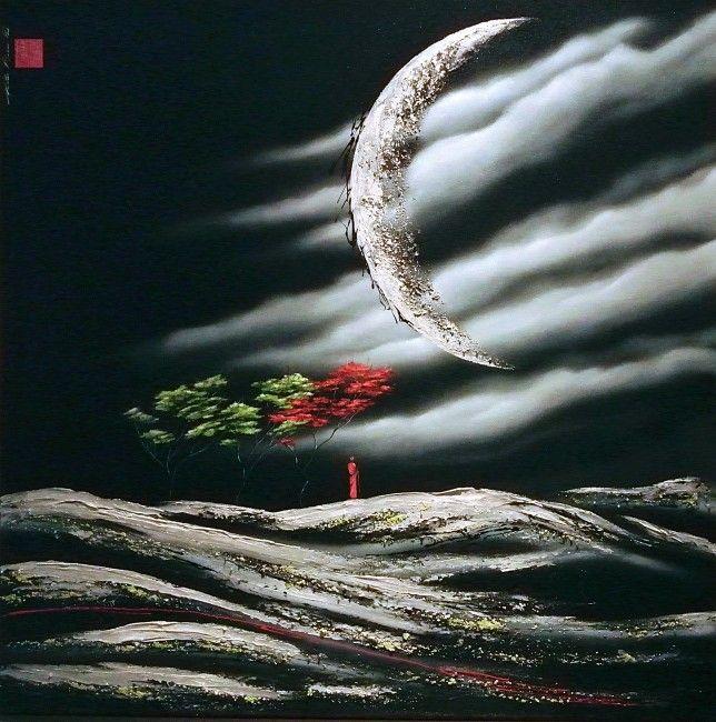 Si lumineuse que la nuit devient jour et la terre devient mer Martin Beaupré artiste peintre ||
