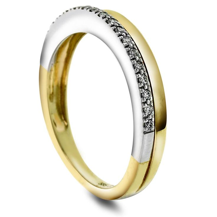 Ring i gull med diamant 0,11 ct WP - Juvelen gullsmed