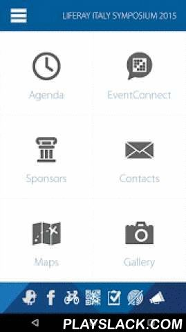 Liferay Events  Android App - playslack.com , NOTE: This app requests several permissions before you can install. Continue reading below to understand what this app does with the requested permissions.The Liferay events app allows you to keep up with the latest and greatest activities at Liferay's worldwide conferences and other events. Built on the Liferay Platform, use this powerful tool to plan which sessions you'd like to attend ahead of time, read up on conference presenters and the…