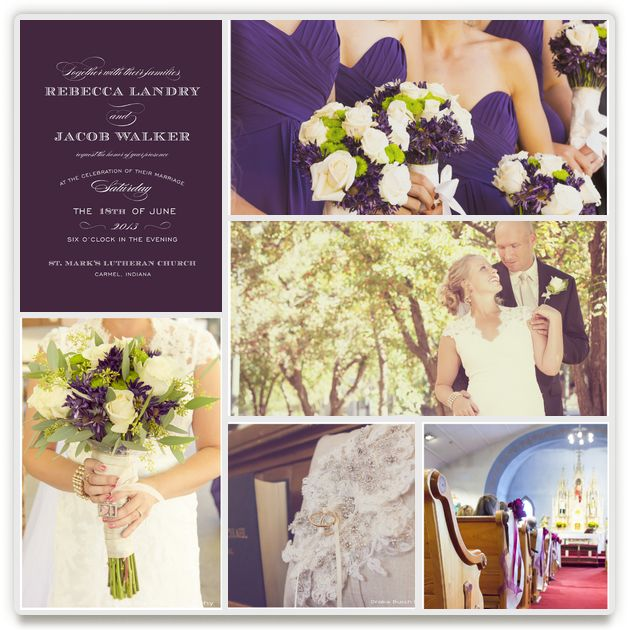 classic purple wedding by kristind. minted's wedding inspiration board challenge.