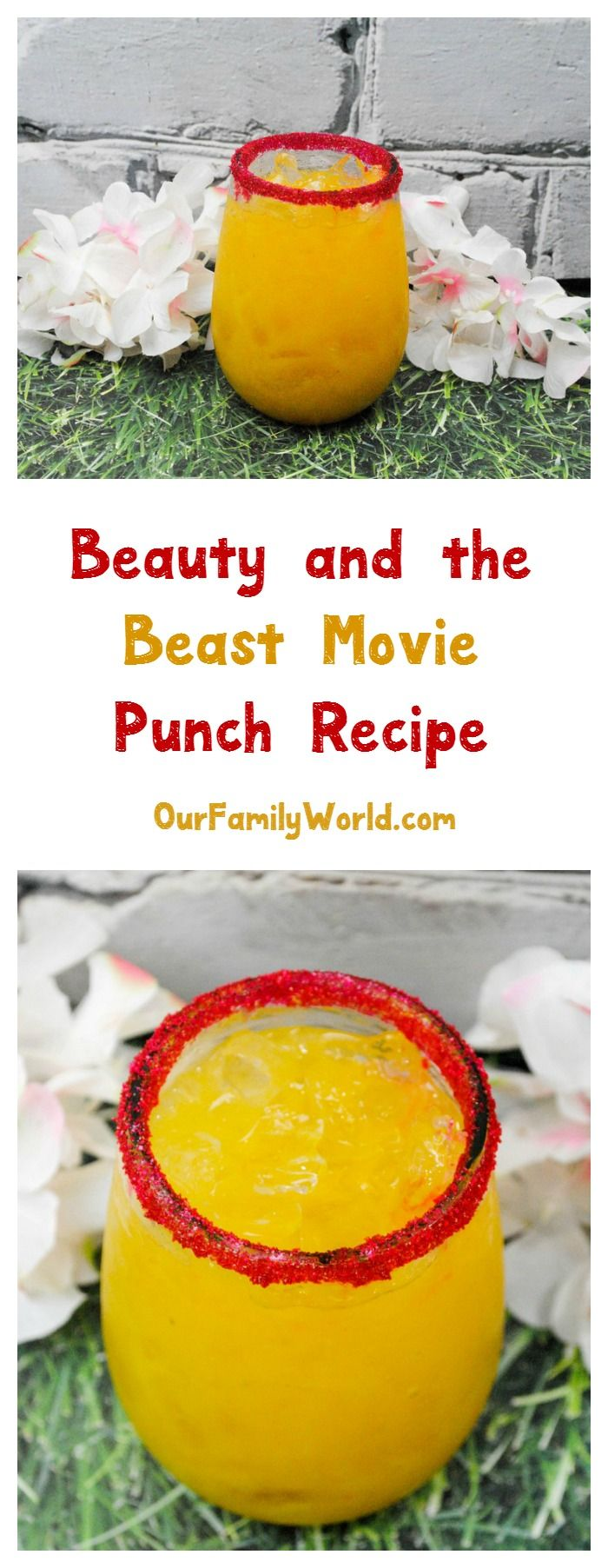 Looking for a kid-friendly non-alcoholic drink recipe that celebrates your love of all things Disney? Whip up this super easy Beauty and the Beast movie punch!