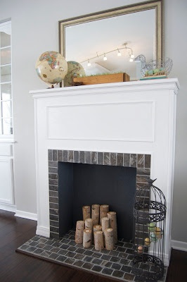How To Build a Faux Fireplace | matsutake -- **I think this is what I am going to do....Just different trim design and a larger mantle @Gressie48