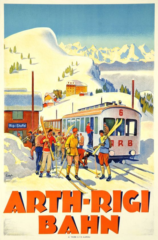 SWITZERLAND - Arth-Rigi Bahn 1924 Otto Ernst #Vintage #Travel #Winter
