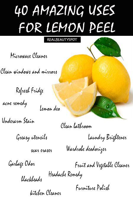 40 amazing uses for lemon peel
