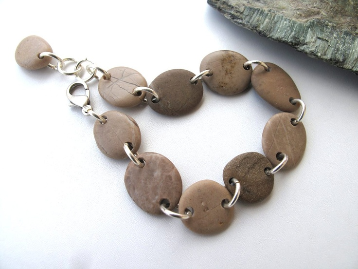 Beach Stone Jewelry.  This would also work well with sea glass or driftwood.