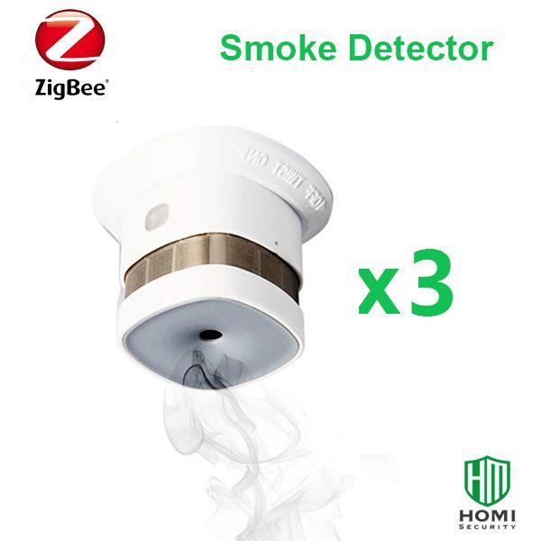 2017 Reddot Preis reworded kompatibel mit SmartThings Zipato Orvibo Zigbee Naben 3 stück Zigbee feuer rauch sensoren