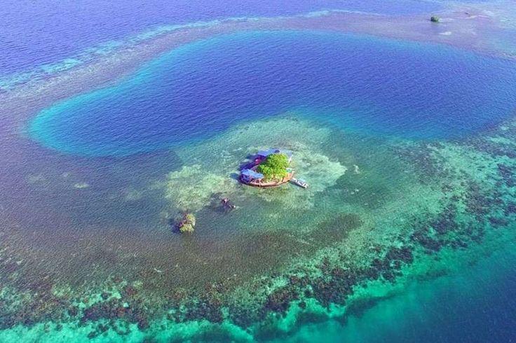 Wer würde hier nicht gerne Urlaub machen? Bird Island gehört zu Belize und kann komplett von Feriengästen gemietet werden.