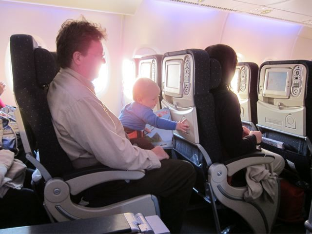 11 Tips for Surviving Air Travel with Kids I recently returned from an 8 month trip to France with my now 11 month old baby. I found this article extremely helpful for my travel! Especially when I realized I can book a baby basinet for the plane! It saved us on the way there!