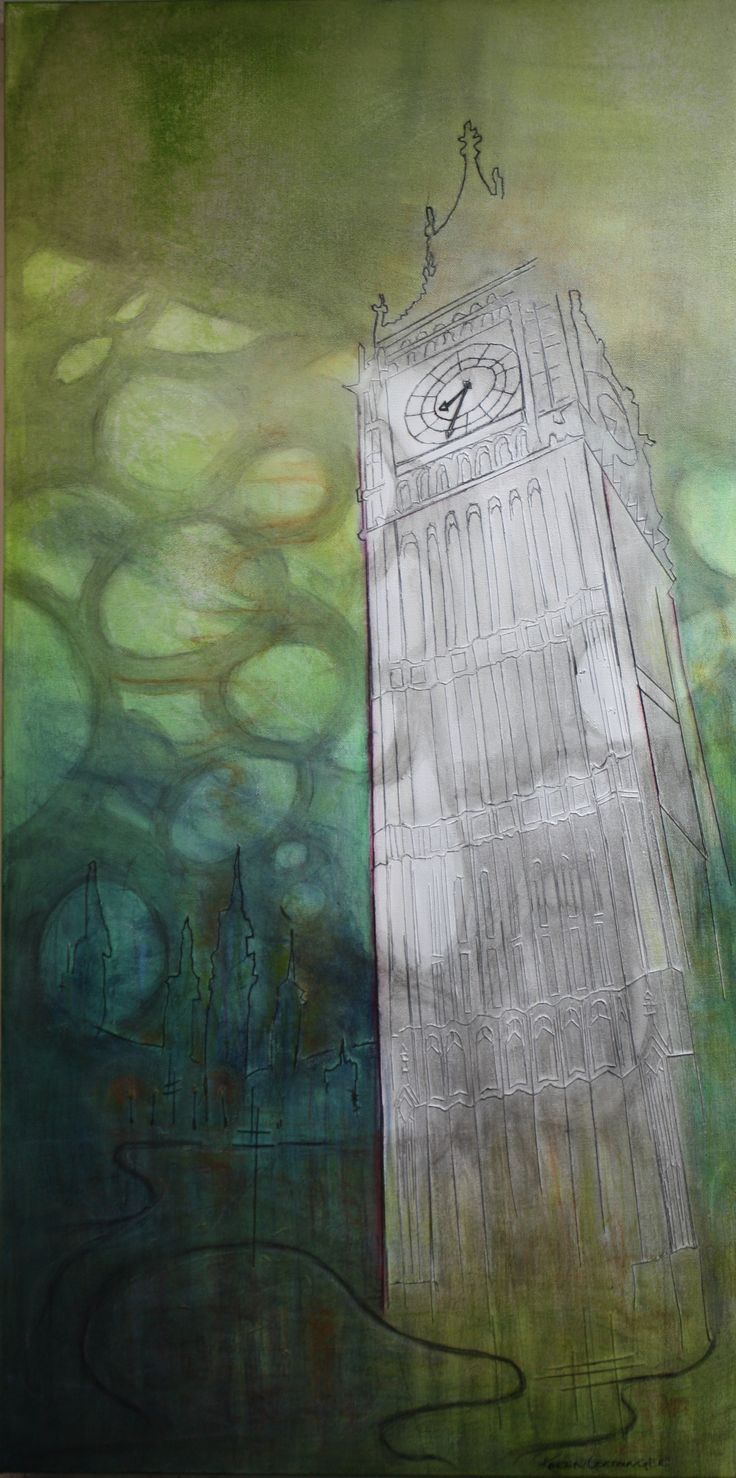 """""""Vestige 5"""" 36"""" x 18"""" © thread, acrylic, charcoal, ink, water color on stretched canvas  www,karengoetzinger.com"""