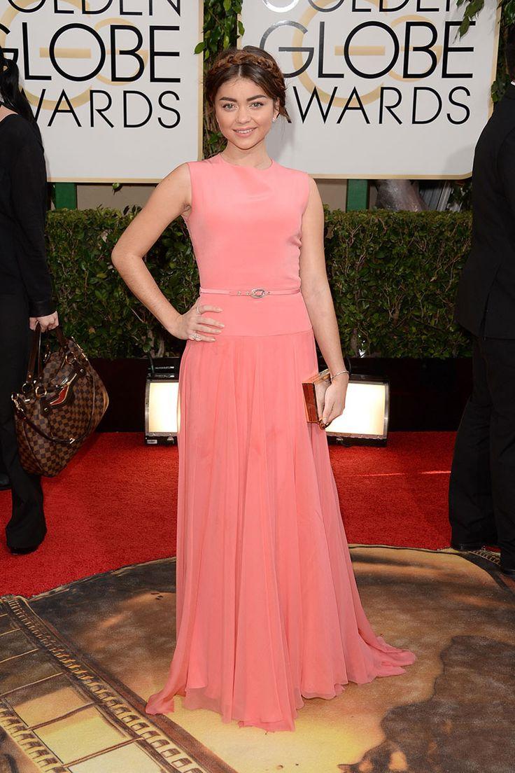 Sarah Hyland, de Modern Family, con vestido de Tom Ford.