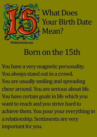 What Does Your Birth Date Mean?- Born on the 15th ✨