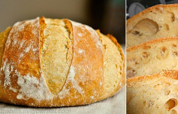 Domáci chrumkavý chlebík bez miesenia: Hotový raz-dva, vonia po celom dome a chutí báječne - Báječná vareška