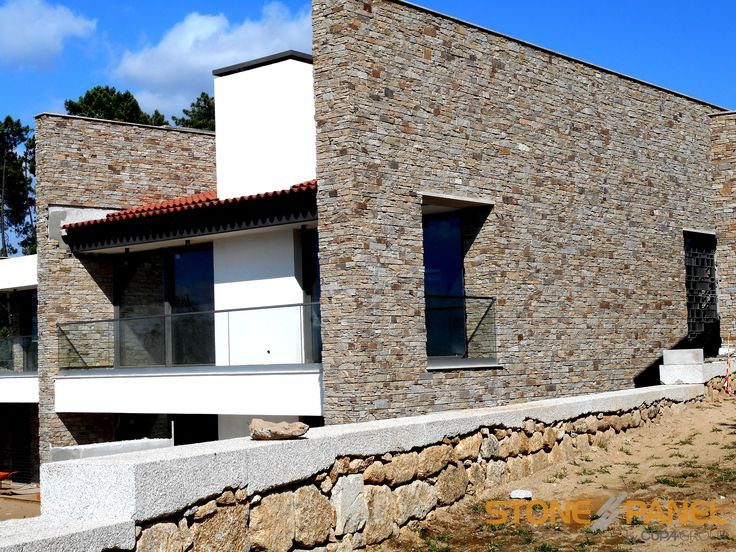 Arquitectura contempor nea en un entorno natural gracias a - Revestimiento fachadas piedra ...