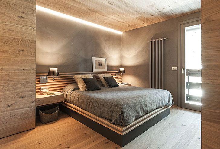 Sovremennnyj Interer Iz Dereva V Italyanskih Alpah Foto Idei Dizajn Home Country Cottage Decor Bedroom Design