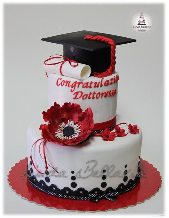 GRADUATION CAKE - by Linda Bellavia Cake Art @ CakesDecor.com - cake decorating website