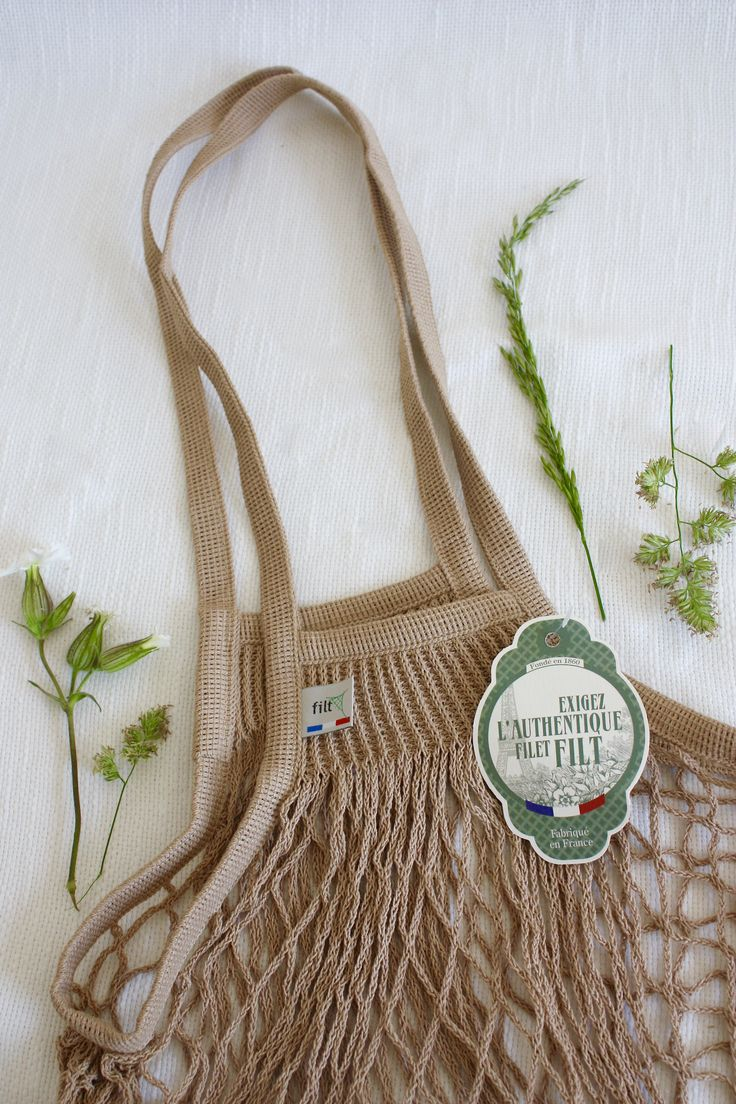 French String Bag French Net Bag in Hemp www.storiesinthemaking.co.uk