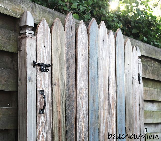reclaimed wood headboard fence gate, carpentry  woodworking, pallet projects, Reclaimed Wood Headboard Fence Gate