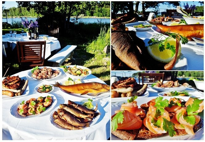 Midsummers feast in Kotka, Finland.