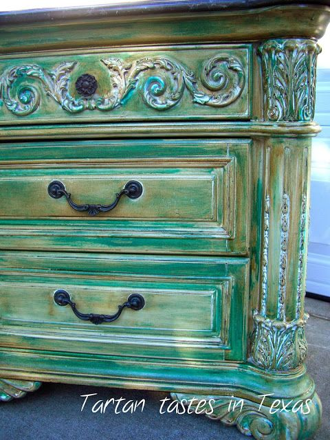 Tartan Tastes in Texas: Furniture Friday - Large End Table gets two makeovers