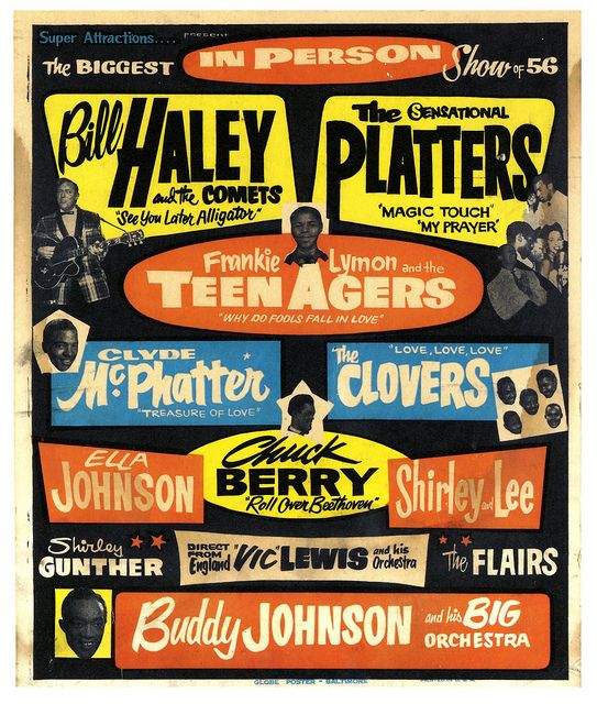Virgin music poster find bands in picture