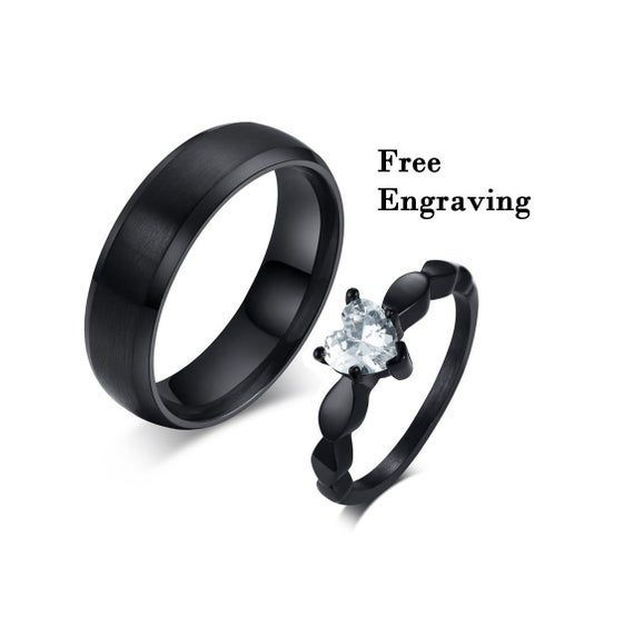 Promise Rings For Couples Couple Ring Set Couple Rings 1st