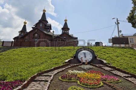 KHARKIV, UKRAINE - JULY 6, 2014: Church of the Mother of God Joy and consolation in Kharkiv near Source Sarzhin Yar