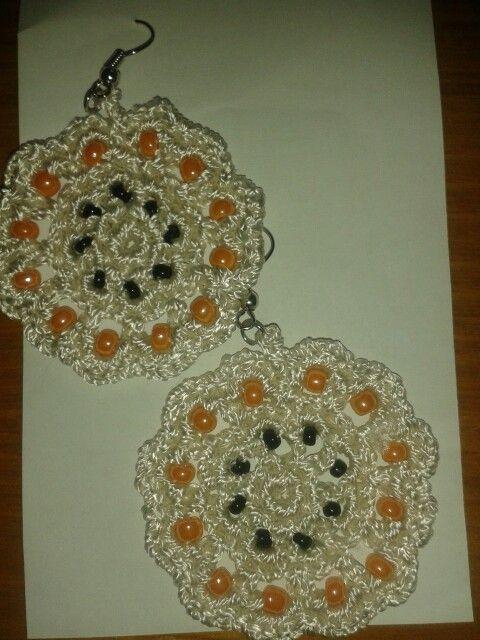Cercei crosetati din mătase