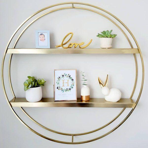 Deco Round Metal Shelf Wall, Round Wall Decor With Shelves