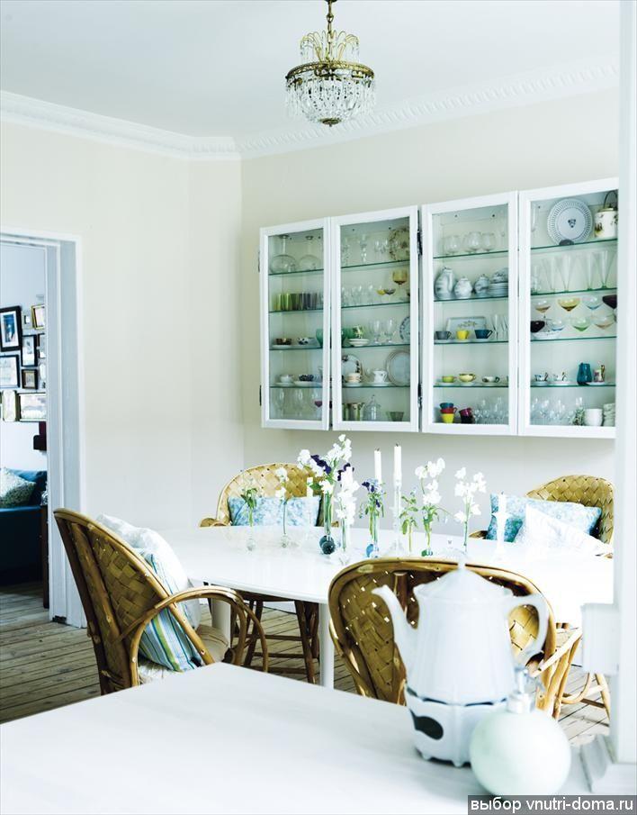 Подвесные шкафы для хранения посуды, фото Hus and Hem