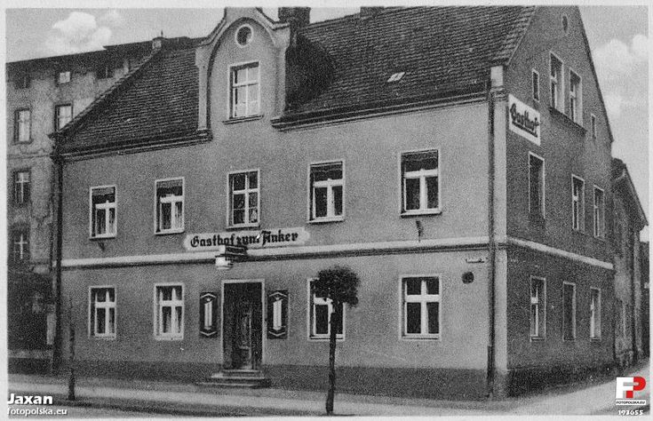 "Restauracja ""zum Anker"" (Gasthof zum Anker), Żagań - 1941 rok, stare zdjęcia"