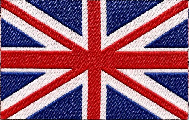 Nášivka nažehlovací Vlajka GB - Bižuterie, nášivky, skřipce, vlásenky, gumičky, čelenky
