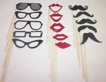 CUTE! Photobooth Prop Moustaches, Lips, Glasses, on sticks Wedding Party Props-in Event & Party Supplies from Home & Garden on Aliexpress.com