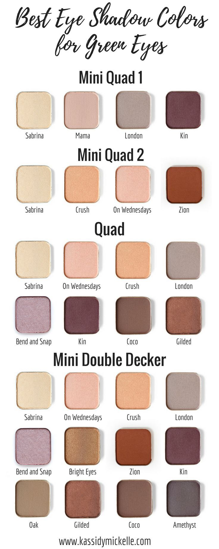the best eyeshadow colors for green eyes | hair and make up