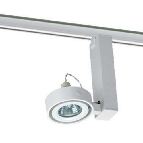 Juno track lighting system at seattlelighting.com Uno head: $66 Duo double head: $100 track: $30/4 feet