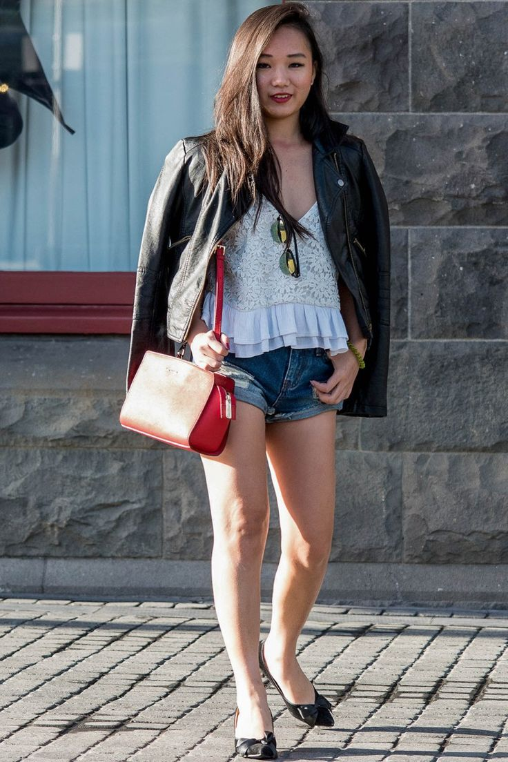 Leather Jacket and White Tank