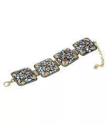Waama Jewels Partywear Collection Gold Plated Classy Tibetan Bracelet for Girls & Women