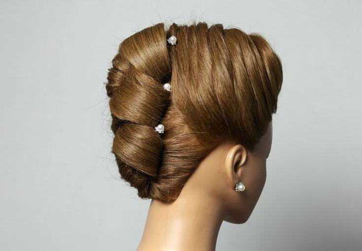 Hairstyle for long medium hair. Updo hairstyles. Вечерняя прическа с пле...