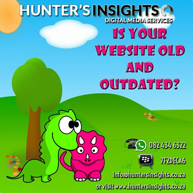 Are you stuck in the 1980s? Does your website look as if it was created in Microsoft Word? Why not let Hunter's Insights revamp your #website to keep up with the latest trends in #webdesign at affordable prices?  Contact us today on info@huntersinsights.co.za or visit us at http://huntersinsights.co.za