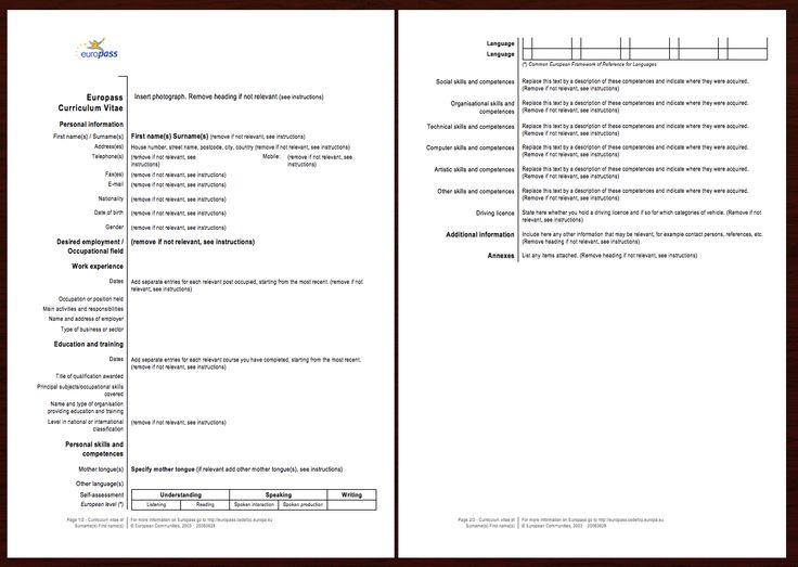 europass resume template -    resumesdesign europass - datastage resume sample
