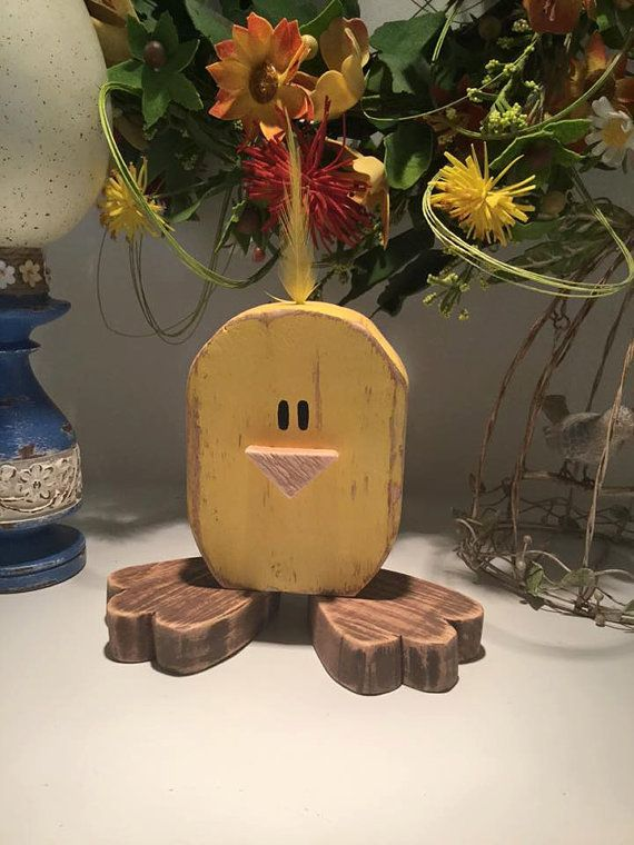 Wood Easter Chickie Wood Chickie Cute Easter by TheTatteredPallet
