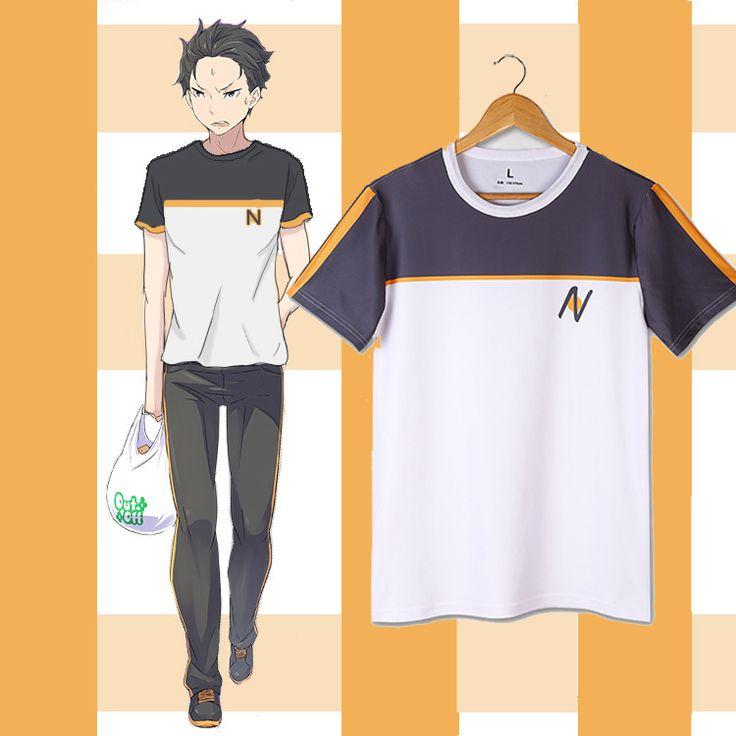 Re:Zero kara Hajimeru Isekai Seikatsu T shirts Anime T-shirt Fashion Cartoon Subaru Natsuki Cosplay Tops Tees #Affiliate