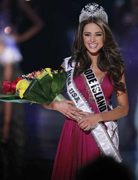 Miss Rhode Island Olivia Culpo reacts after being crowned during the Miss USA pageant at the Planet Hollywood Resort & Casino in Las Vegas, Nevada June 3, 2012.