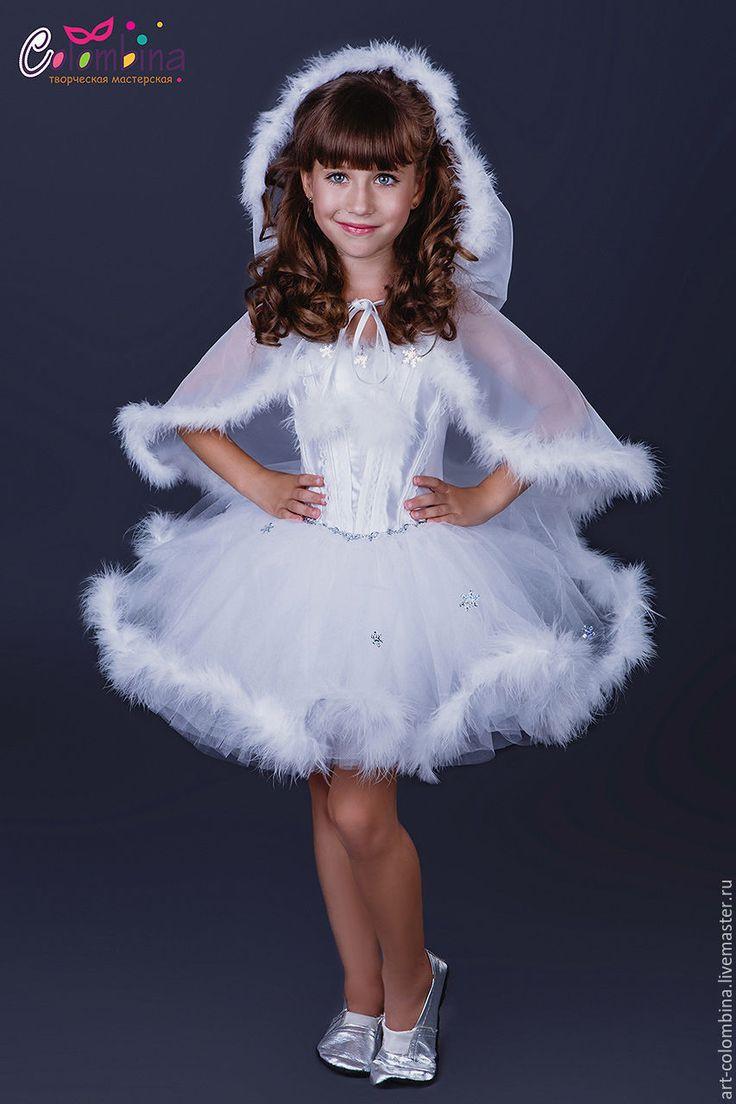 Купить Костюм снежинки - белый, снежинка, костюм снежинки, платье для девочки, карнавальные костюмы