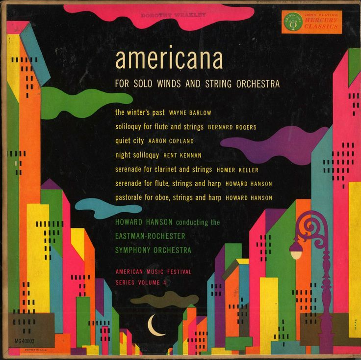 Howard Hanson, East Rochester Symphony-Americana, label: Mercury MG 40003(1953)Design: George Maas
